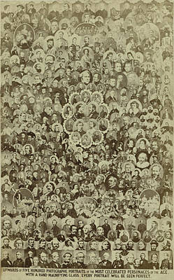 Portraits Of Famous People Poster