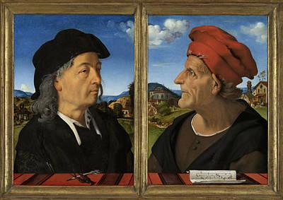 Portraits Of Giuliano And Francesco Giamberti Da Sangallo Poster by Quint Lox