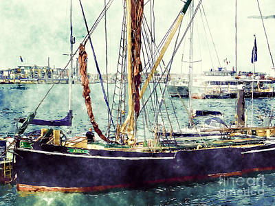 Portsmouth Harbour Boats Poster