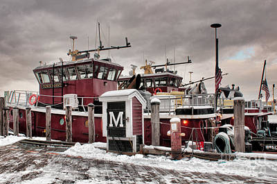 Portsmouth Tugboats Poster by Sharon Seaward