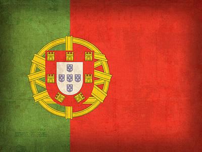 Portugal Flag Vintage Distressed Finish Poster