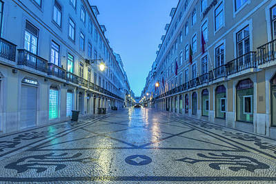 Portugal, Lisbon, Baixa, Rua Augusta Poster