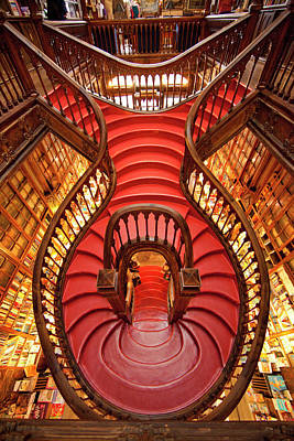 Portugal, Porto Stairway In Lello Book Poster by Jaynes Gallery