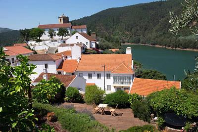 Portugal, Tomar, Castelo De Bode Dam Poster