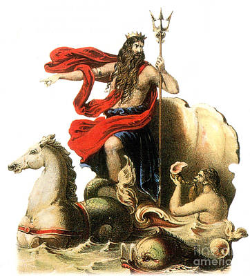 Poseidon, Greek God Of The Sea Poster by Photo Researchers