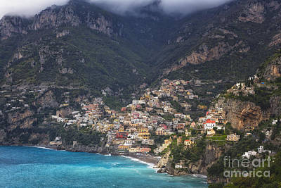 Positano In Morning Light Poster by George Oze