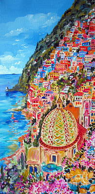 Positano Pearl Of The Amalfi Coast Poster by Roberto Gagliardi