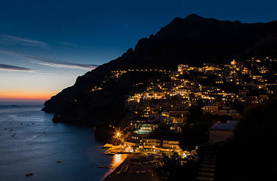 Poster featuring the photograph Positano Sunset by Carl Amoth