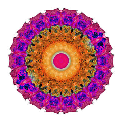 Positive Energy 2 - Mandala Art By Sharon Cummings Poster by Sharon Cummings