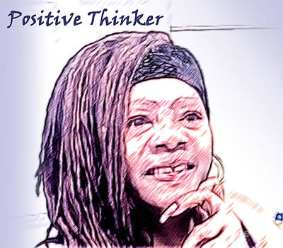 Positive Thinker Pastel Poster by Jacqueline Lloyd