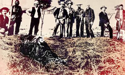 Posse Gets Outlaw 1893 - Visalia California Poster