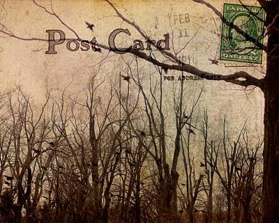Postal Birds Poster by Gothicrow Images