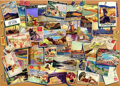 Postcard Uk Poster by Garry Walton