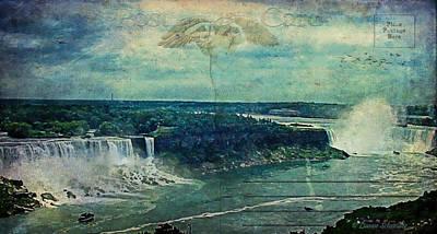 Postcard...impressions Of Niagara Poster