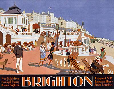 Poster Advertising Travel To Brighton Poster