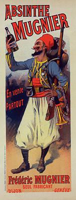 Poster For  L Absinthe Mugnier. Lucien Lefevre 1850 France Poster