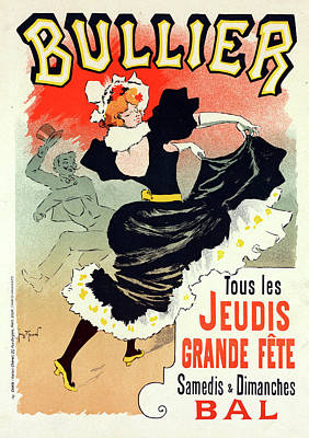 Poster For Le Bal Bullier. Meunier, Georges 1869-1942 Poster by Liszt Collection