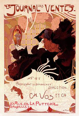 Poster For Le Journal Des Ventes Poster
