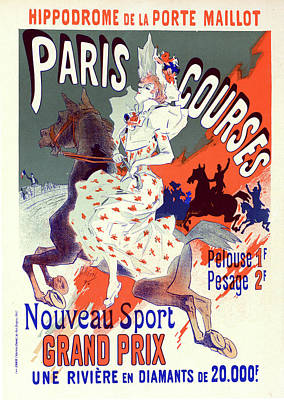 Poster For Lhippodrome De La Porte-maillot Poster by Liszt Collection