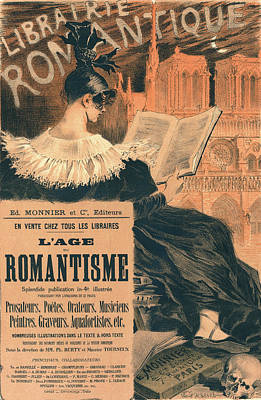 Poster For Librairie Romantique. Promoting The Book Lage Du Poster