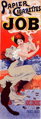 Poster For Papier à Cigarettes Job. Georges Meunier Poster by Liszt Collection