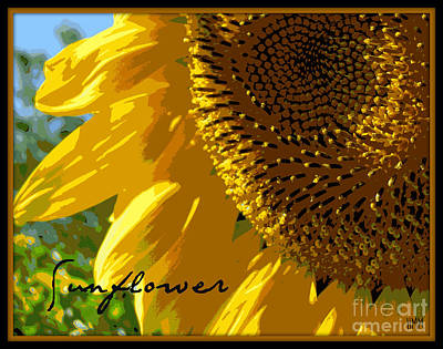 Poster featuring the photograph Posterized Sunflower by Heidi Manly