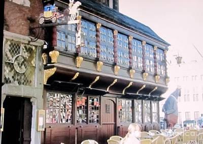 Postwagen Old German Restaurant Aachen Germany Poster
