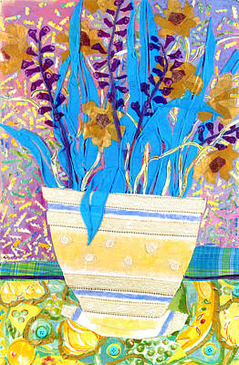 Pot Of Blue Poster by Diane Fine