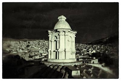 Potosi Church Dome Black And White Vintage Poster