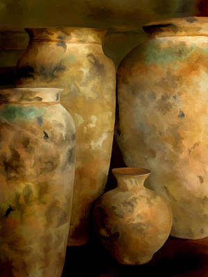 Pots Of Time Poster by Michael Pickett