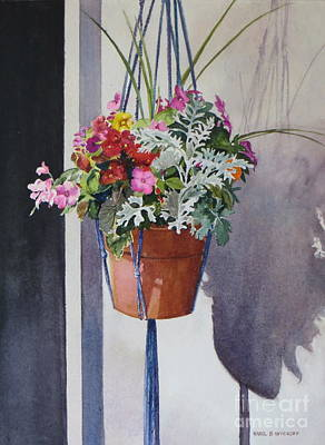 Potted Posies Poster by Karol Wyckoff