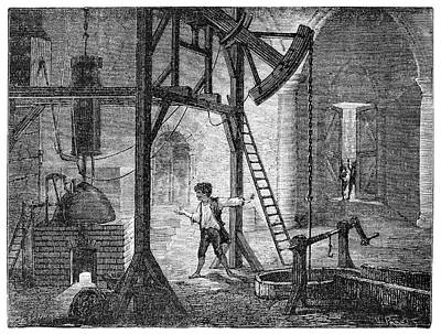 Potter Improving Newcomen Engine Poster by Science Photo Library