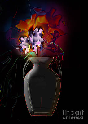 Pottery Vase Flowers 2 Poster