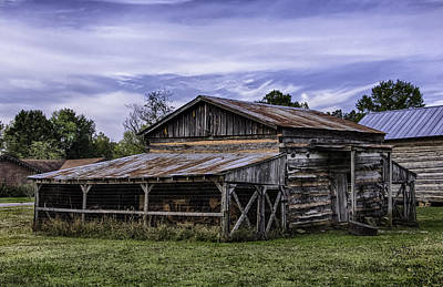 Poster featuring the photograph Pottsville Arkansas Historic Log Barn by Betty Denise