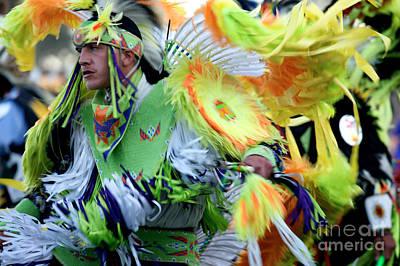Pow Wow Dancer Poster by Chris  Brewington Photography LLC