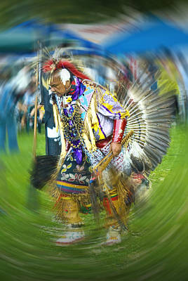 Pow Wow Indian Dancer No. 1152 Poster by Randall Nyhof