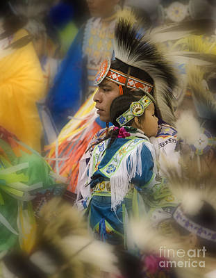 Pow Wow Traditional Ways Of  Learning Poster by Bob Christopher
