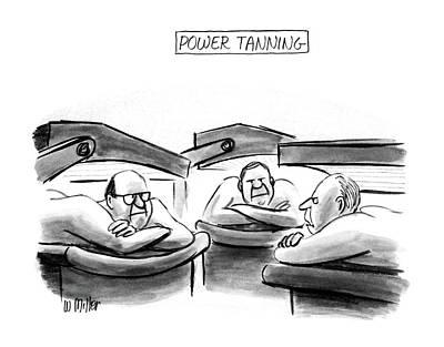 Power Tanning Poster by Warren Miller