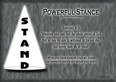 Powerful Stance Poster by Bible Verse Pictures
