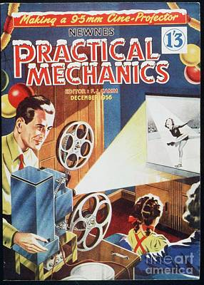 Practical Mechanics 1950s Uk Cine Film Poster
