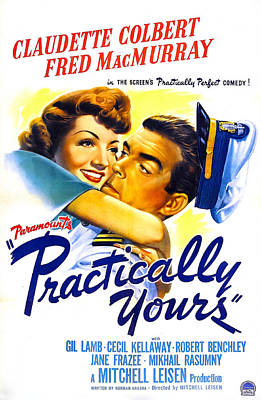 Practically Yours, Us Poster, Claudette Poster by Everett