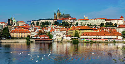 Prague Castle And Old Town Poster by Wladimir Bulgar