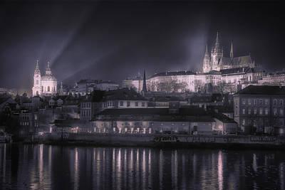 Prague Castle And St Nicholas Poster