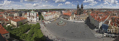 Prague Old Town Square Panorama Poster by Bart De Rijk