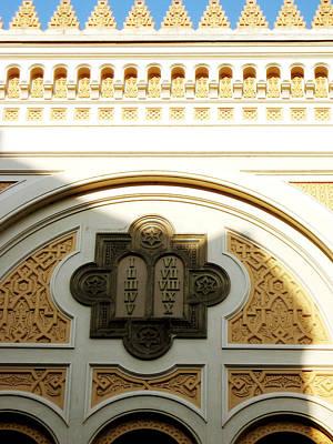 Prague Spanish Synagogue Poster by Leonid Rozenberg