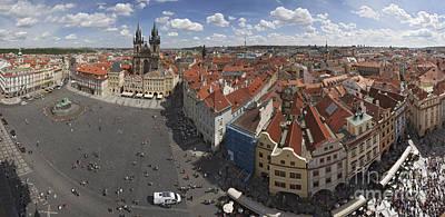 Prague Staromeststke Namesti  Old Town Square With Terraces Poster by Bart De Rijk