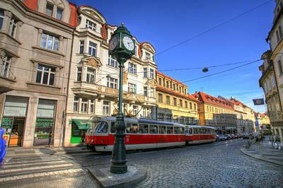 Prague Streetcar Poster