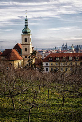 Prague View From The Gardens Poster
