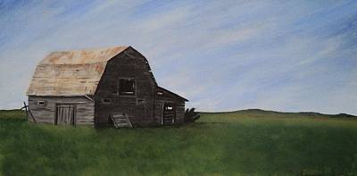 Poster featuring the painting Prairie Barn by Jesslyn Fraser