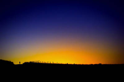Prairie Dawn Run Poster by Geoffrey Baker